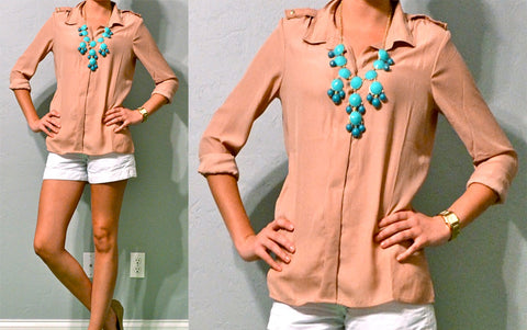Collared Semi Formal Pink Top