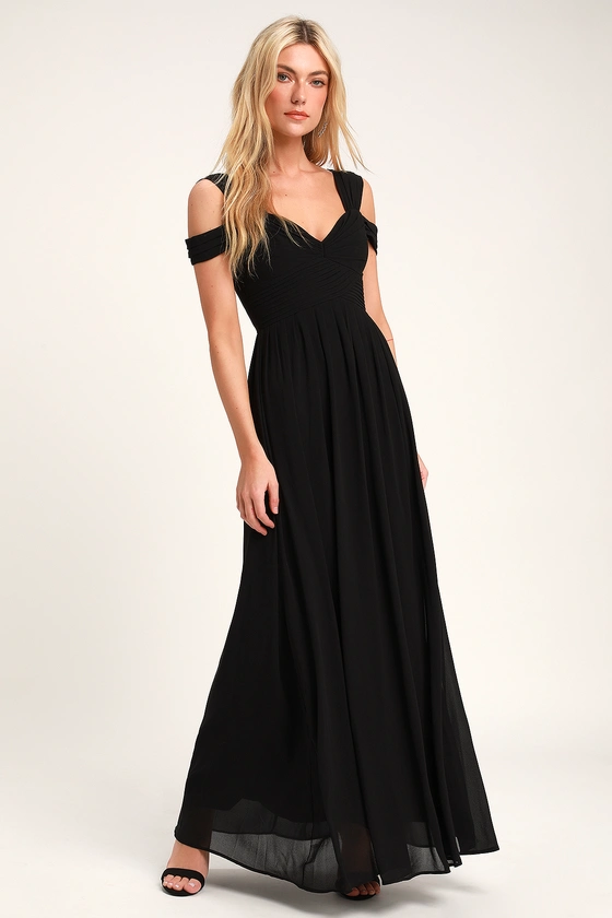 Make Me Move Black Maxi Dress