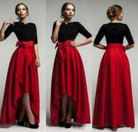 Black And Red Hi Low Tie up Maxi Dress