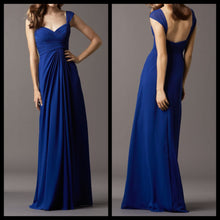Sapphire Blue Maxi Dress with Straps