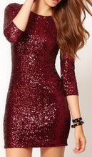 Maroon Glitterati Mini Dress