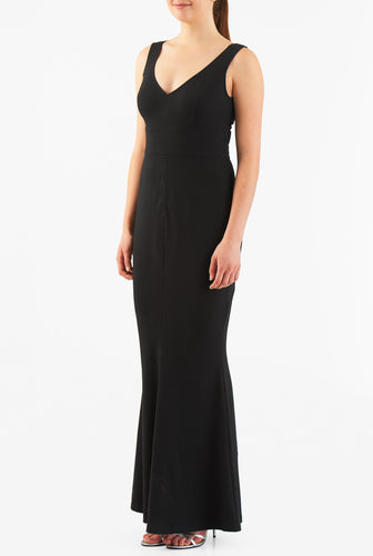 Black Long Bodycon Party wear Gown