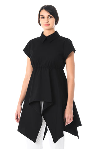 Asymmetrical Black Semi Formal Top