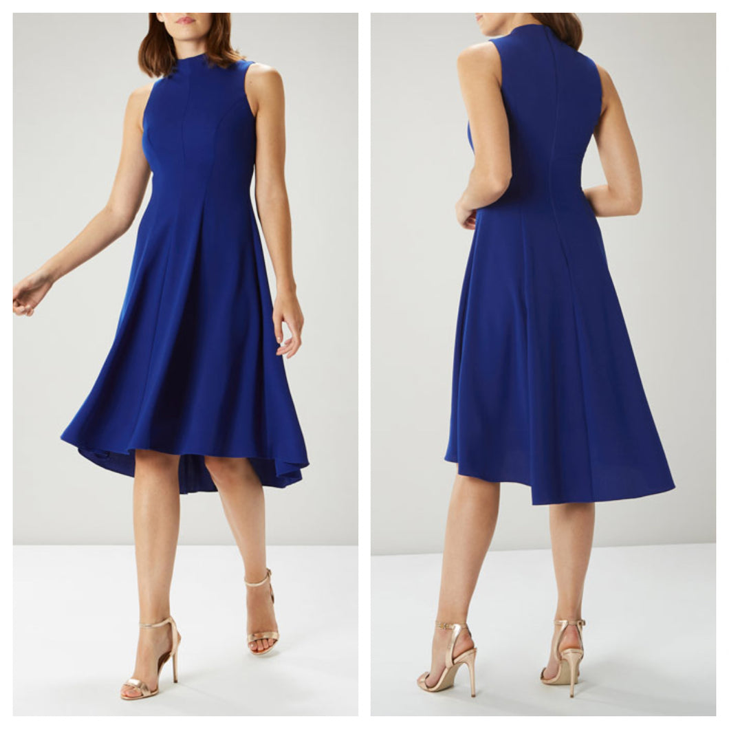 Royal Blue Sleeveless Midi Dress