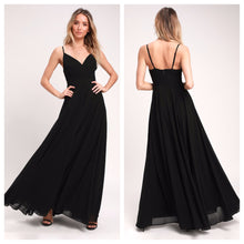 Black Spaghetti Strap Maxi Dress
