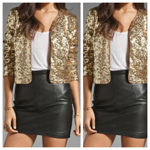 Golden Sequins Jacket