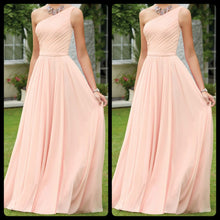 Peach One Shoulder Drape Maxi Dress
