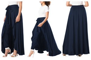 Navy Skirt Pant Bottoms