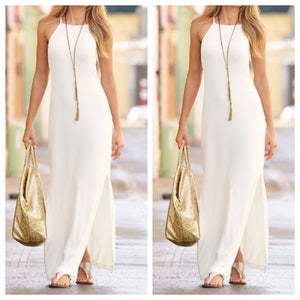 Summercool White Casual Maxi Dress