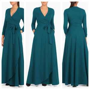 Green Wrap Around Maxi Dress