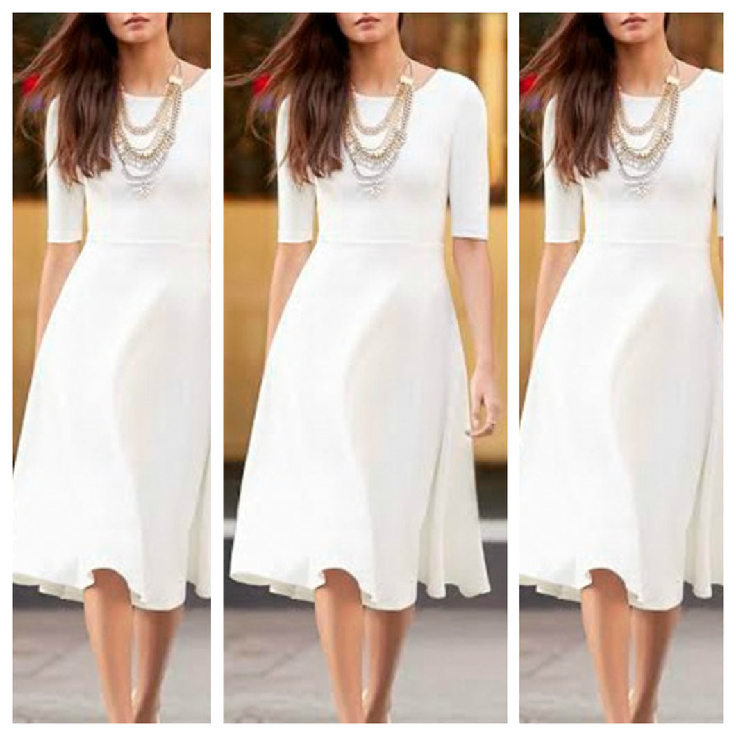 White Summer Midi Dress