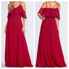 Bloody Mary Off Shoulder Frill Maxi Dress