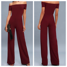 Scuba Maroon Off Shoulder Jumsuit