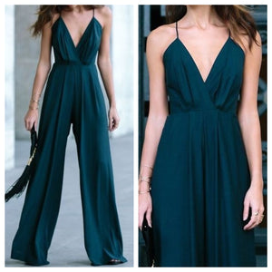 Spaghetti Strap Flared Bottoms Jumpsuit