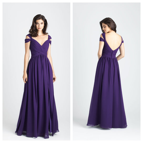 Purple Fairy Tale Multiple Layered Off Shoulder Gown