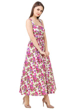 Floral Flared Maxi Dress