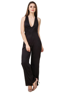 Black Cross-Back Jumpsuit