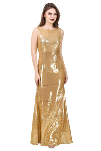 Golden Backless Shimmer Dress