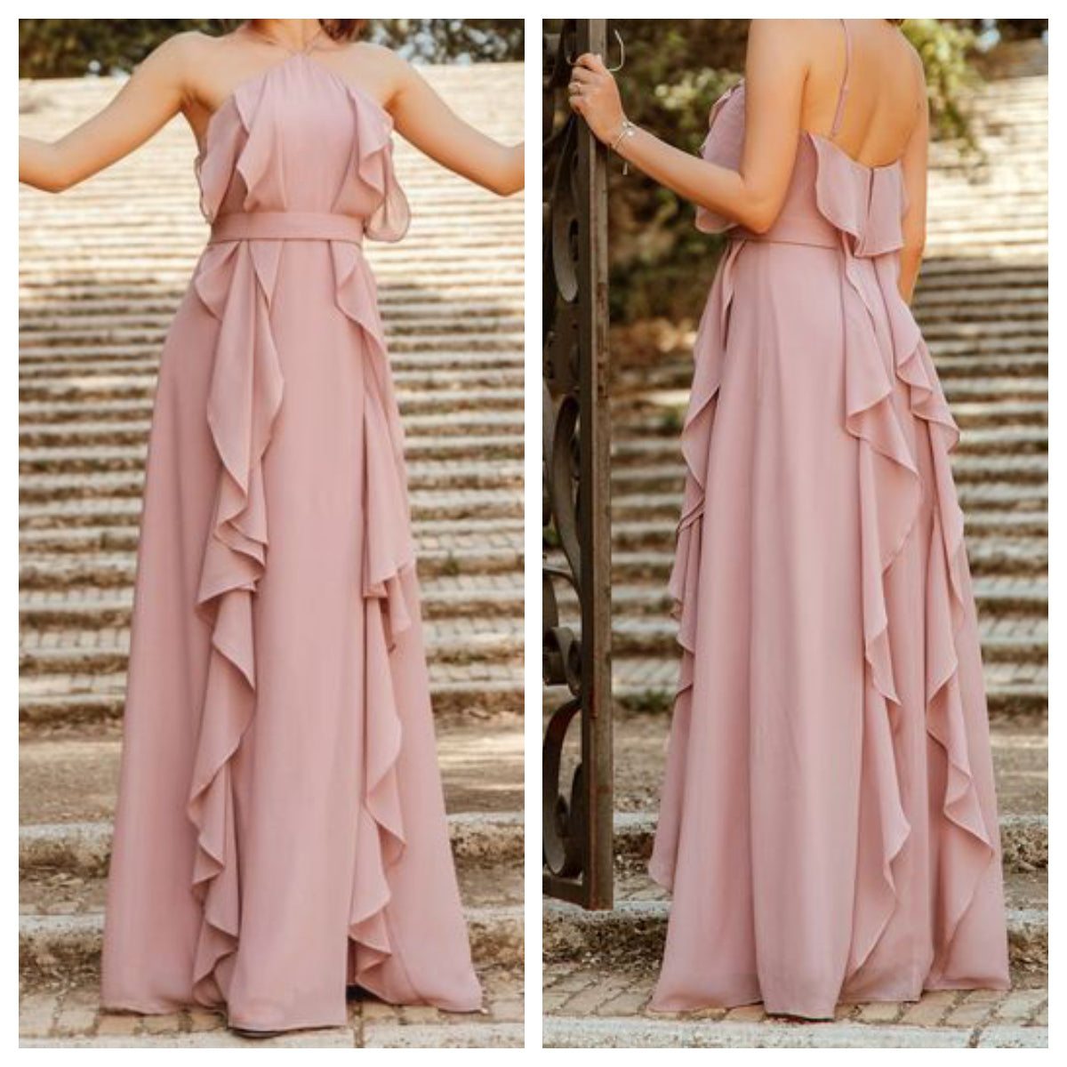 Pink Wonder Ruffles Maxi Dress