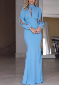 Wonder Blue Bodycon Maxi Dress