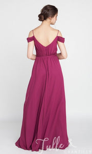 Pink Off Shoulder Strap Maxi Dress