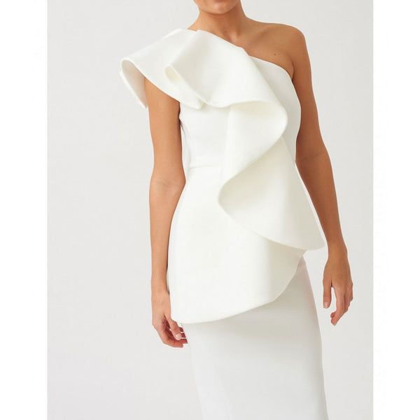 White Scuba Bodycon Pencil Fit Dress
