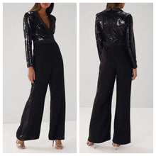 Black Glitterati Sequins Jumpsuit