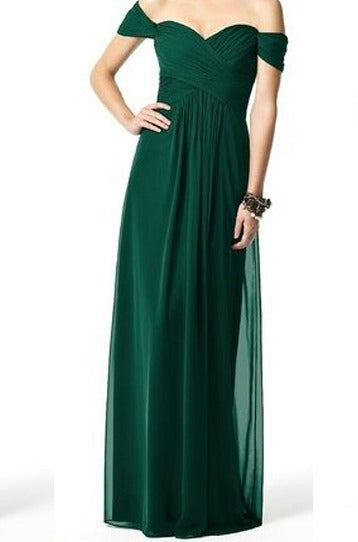 Bottle Green Offshoulder Maxi dress