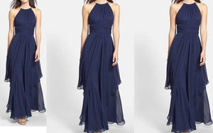 Navy Blue Enigma Maxi Dress
