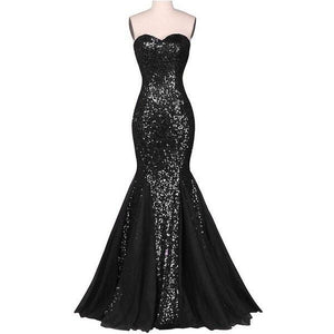 Black Bodycon Sequins Party wear Gown