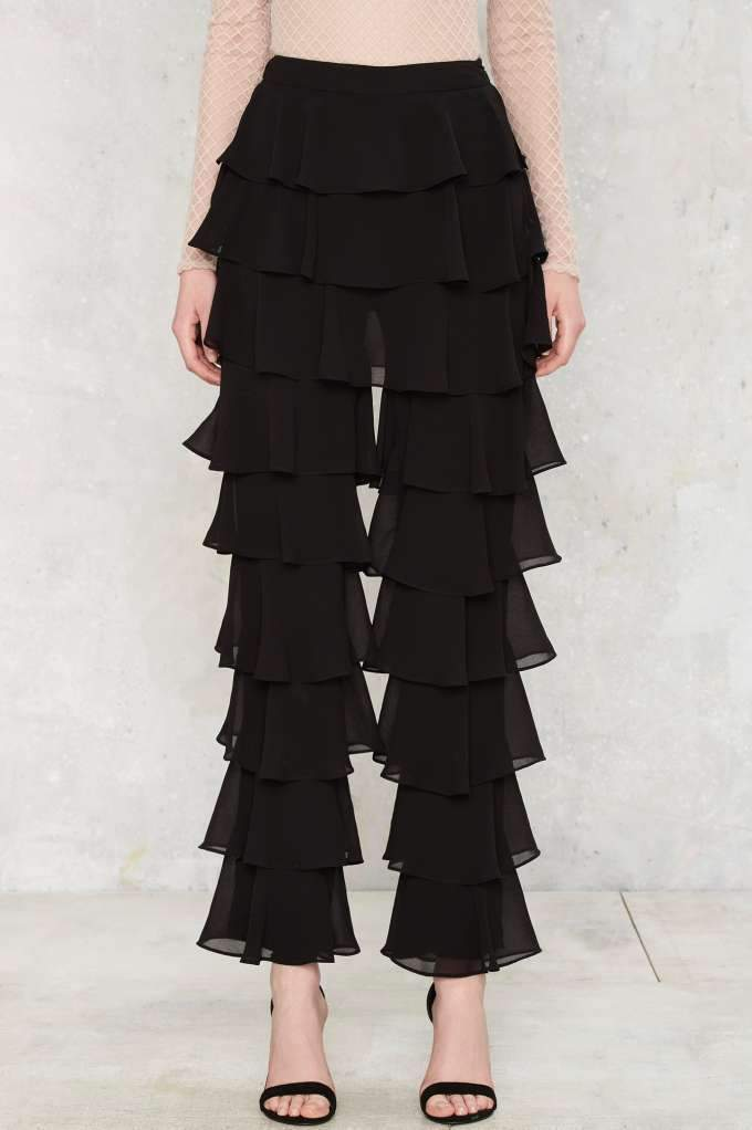Ruffle Layers Pants