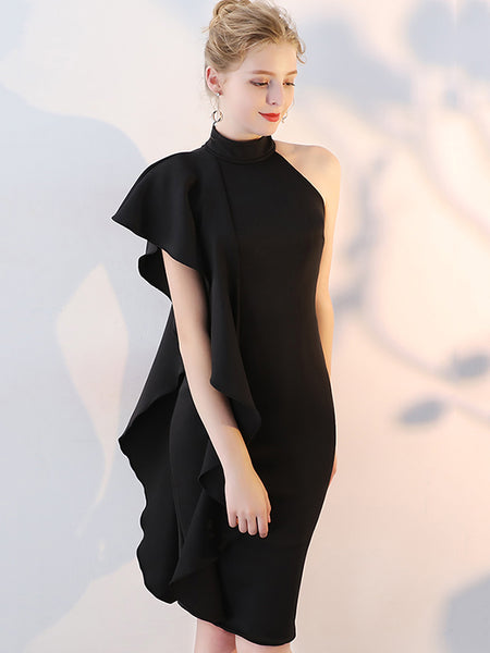 Polo Black Frill Off Shoulder Midi Dress
