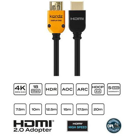 Kordz PRS3 Series Active Optical Cable (AOC) HDMI Cable