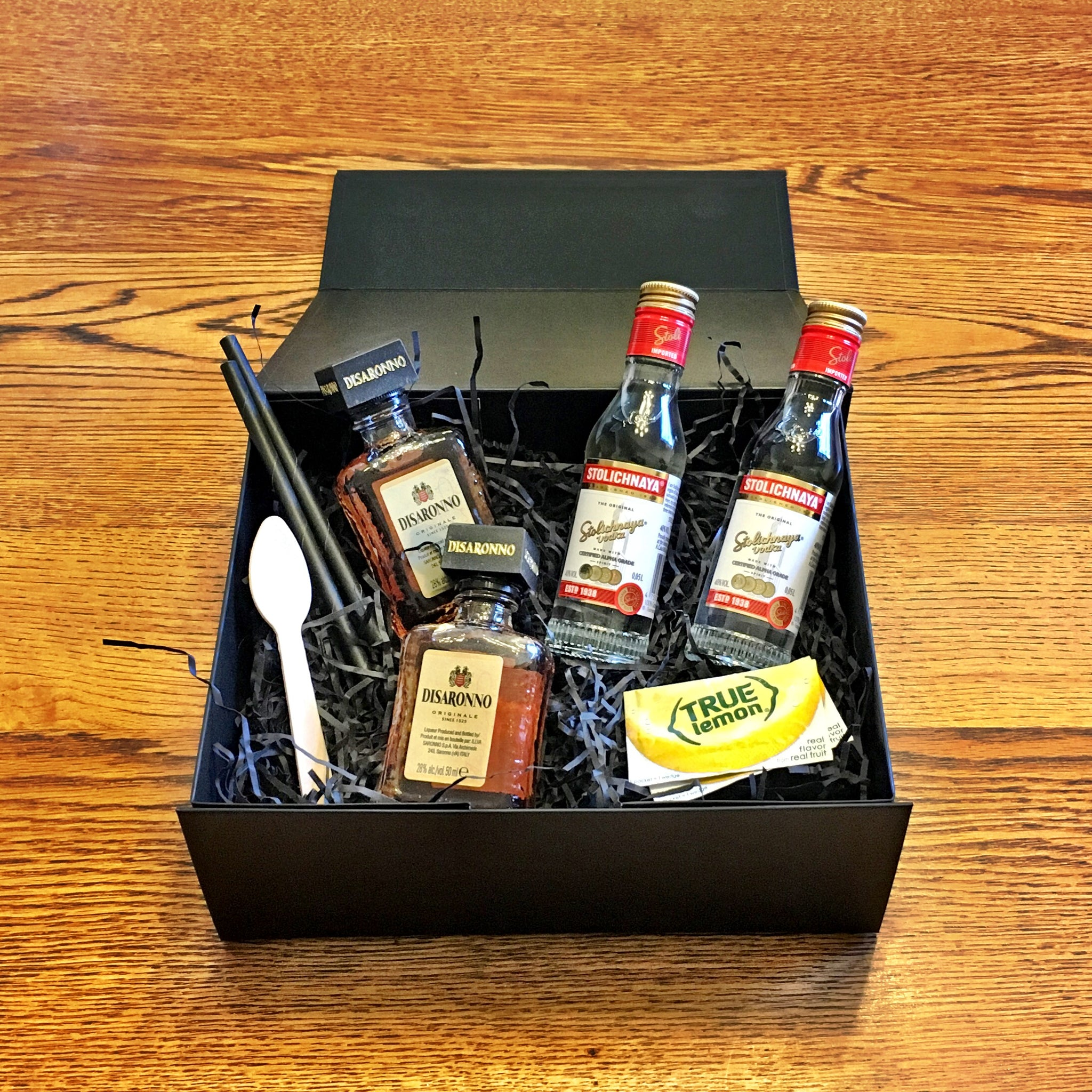Inside Godmother cocktail kit