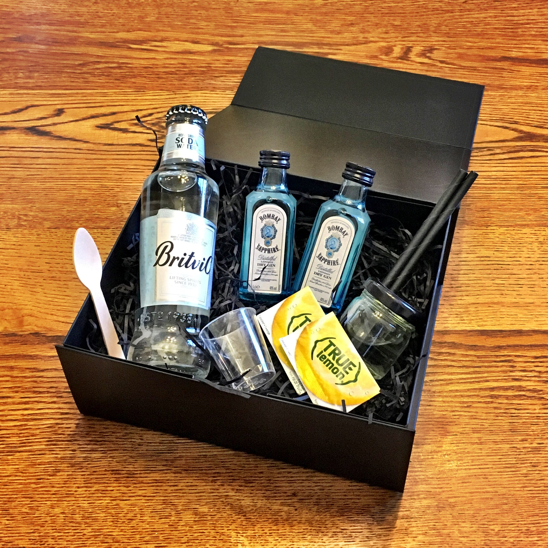 Tom Collins Inside Gift Box