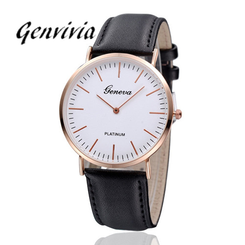 Watch Men Luxury New Arrival Fashion Men Watches 2017 Mens Womens Neutral GE Simple Leather Watch High Quality