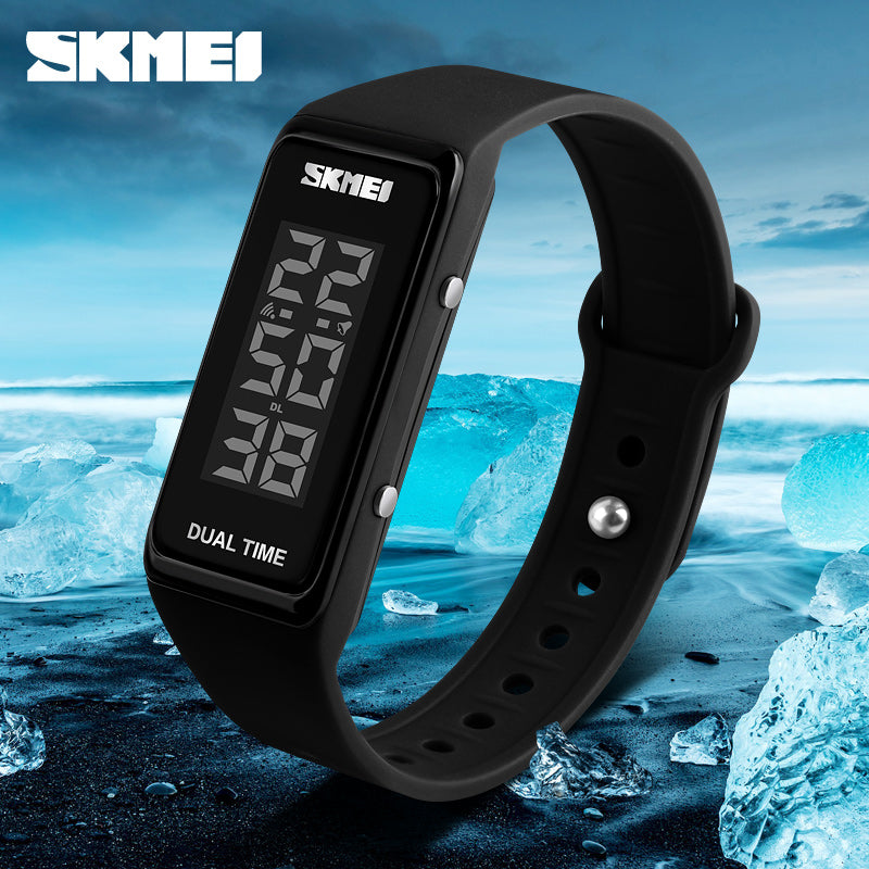 SKMEI Women Sports Watches LED Electronic Digital Wristwatches Waterproof Outdoor Sport Women Wristband Watch