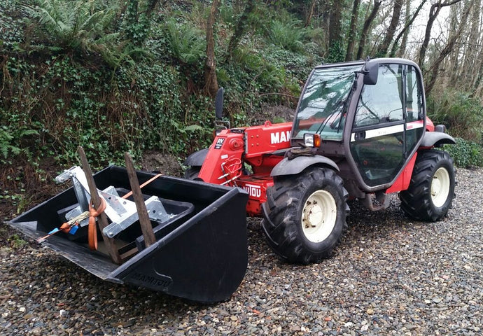 We have a new toy - our telehandler has finally arrived!