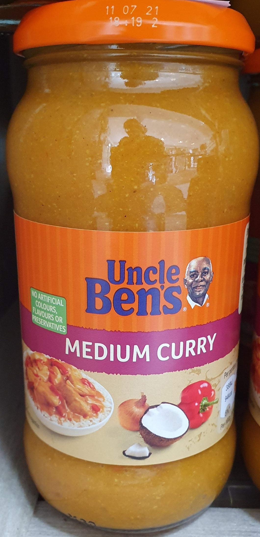Uncle Bens sauces Medium curry 450g