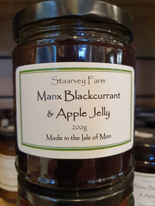 Staarvey Farm Manx Blackcurrant and Apple jelly