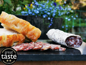 Manx Tamworth Salami, a fine example of British Charcuterie, a Great Taste Award winner.