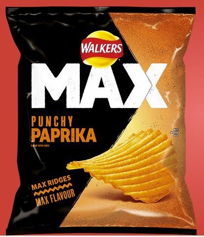 Walkers Punchy Paprika 70g