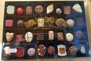 Davisons Finest Chocolates and Truffles selection