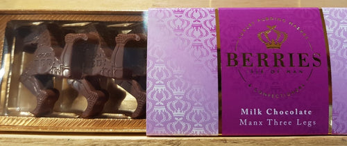 Berries Milk Chocolate - Manx Three legs