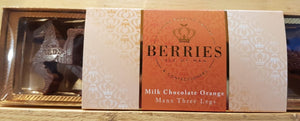 Berries Milk Chocolate Orange - Manx Three legs