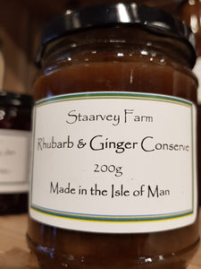 Staarvey Farm Rhubarb and Ginger Conserve