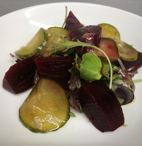 Sunday Lunch Starter - Beetroot and cucumber salad
