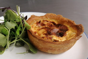 Sunday Lunch Starter - Quiche Lorraine with Staarvey Farm salad