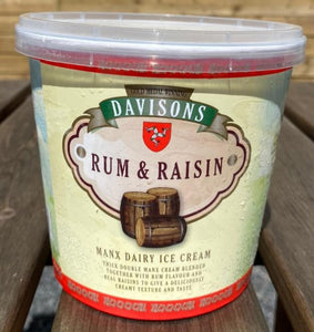 Davisons's Rum & Raisin ice cream