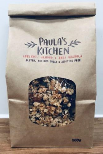 Paula's Kitchen apricot, almond and chia granola